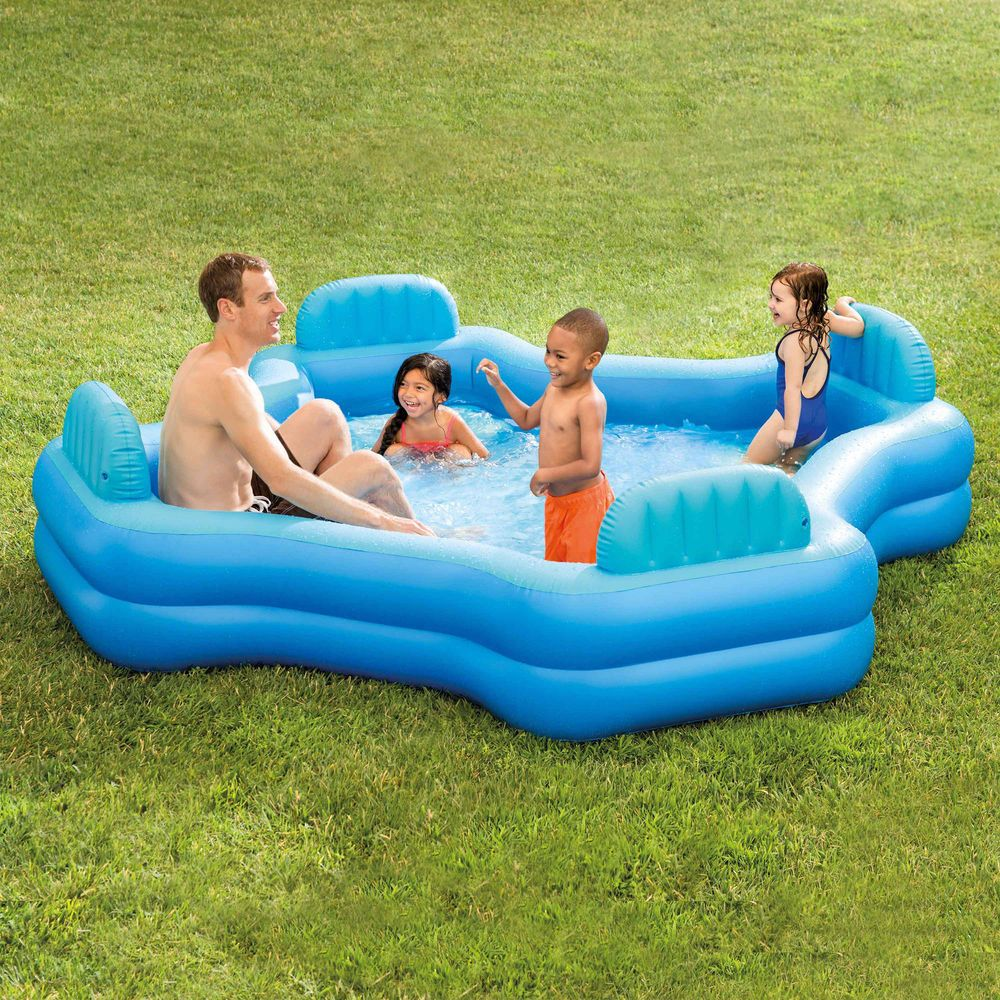 Inflatable Pool Holds 221 Gallons Outdoor Home Backyard Swimming Family Lounge Generic Family Lounge Pool Kiddie Pool Inflatable Pool