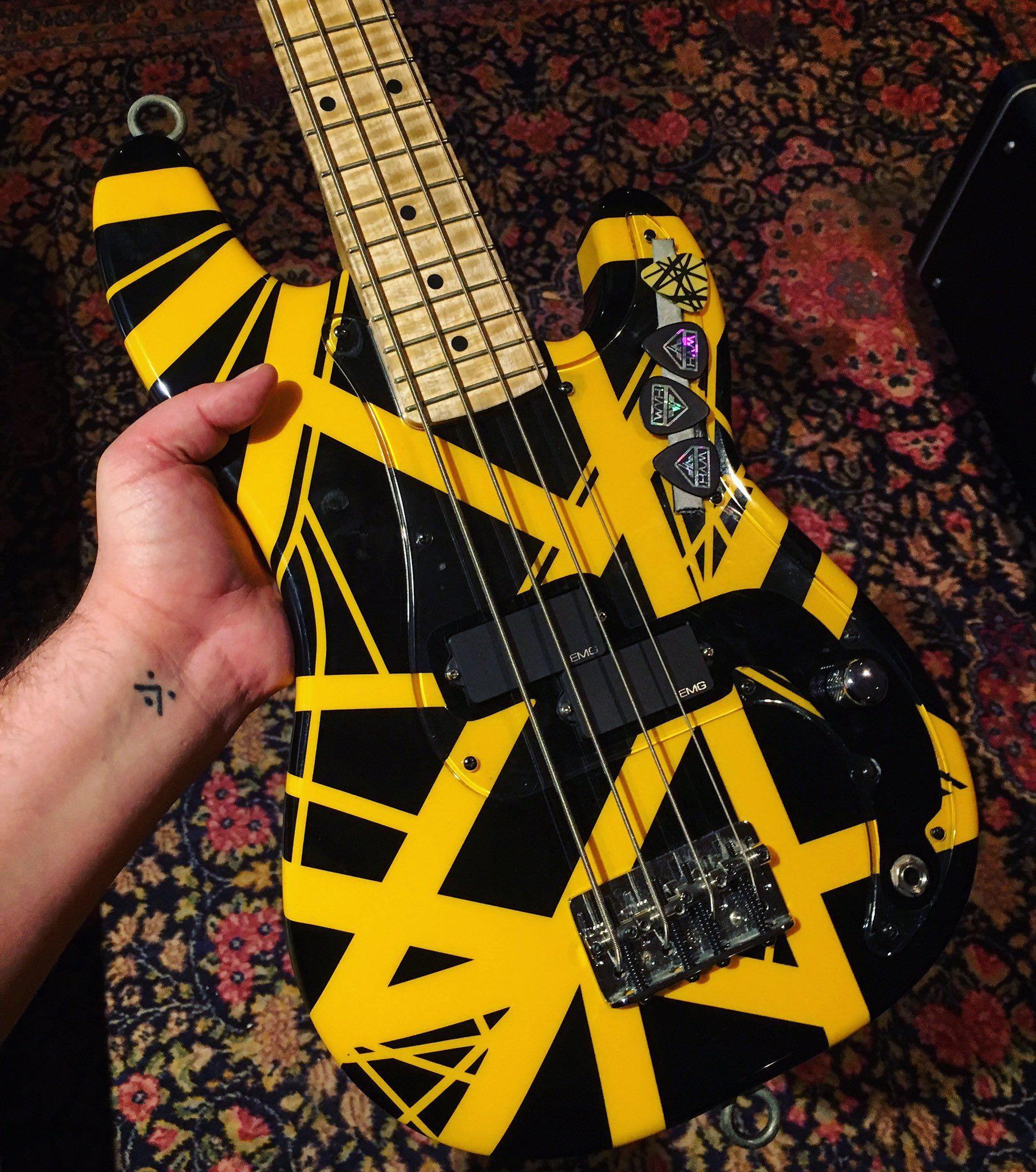Wolf Van Halen On Twitter Little Bass Guitar In 2020 Van Halen Wolf Van Halen Bass Guitar