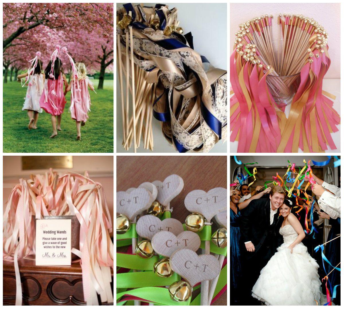 Tolle Ideen für selbstgebastelte Stäbe mit denen man zur Hochzeit ein Spalier bildet