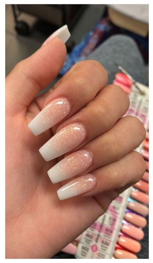 31 Super Cute Summer Nail Color Ideas Year 2019 00119 Armaweb07 Com Ombre Acrylic Nails Gold Nails Dream Nails