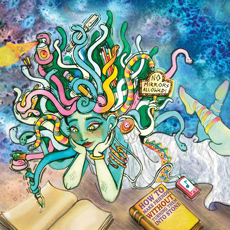 Mixed Media Medusa Picture Book Illustration By Sj Winkler