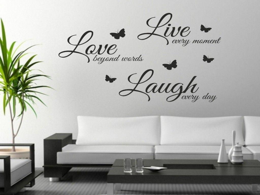frasi adesive per pareti personalizzate con scritte sui