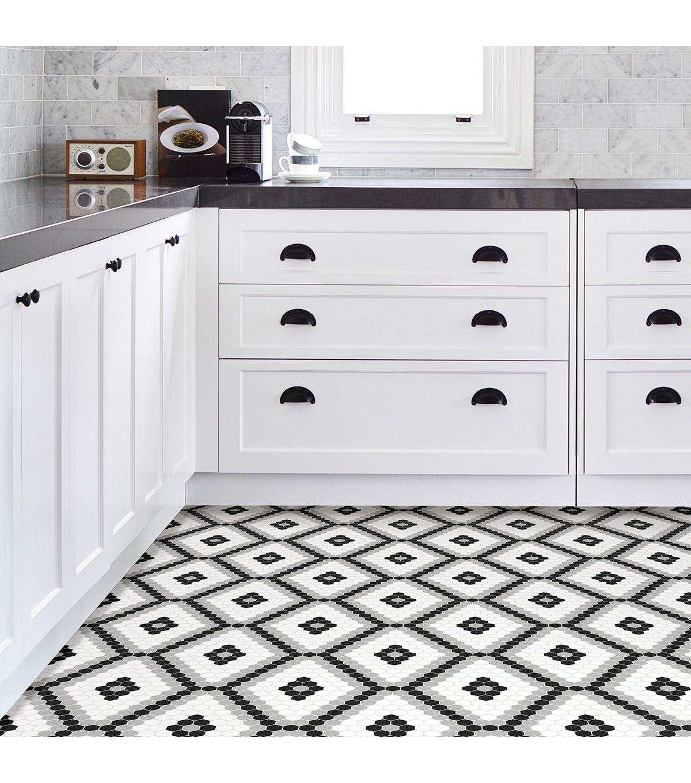 Floorpops Peel Stick Floor Tiles Black And White Joann In 2020 Peel And Stick Floor Peel And Stick Tile Stick On Tiles