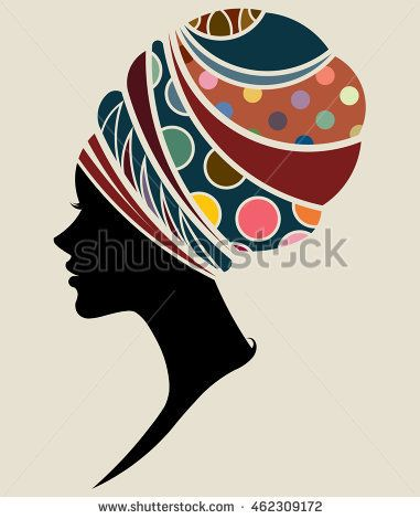 illustration vector of African women silhouette fashion models, beautiful black women. #africanfashion