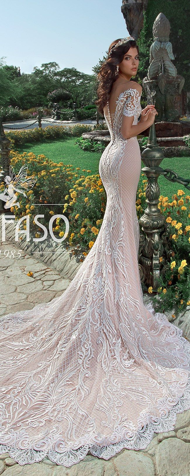 Off Shoulder Long Sleeve Wedding Dress Sexy Mermaid Backless Lace ...
