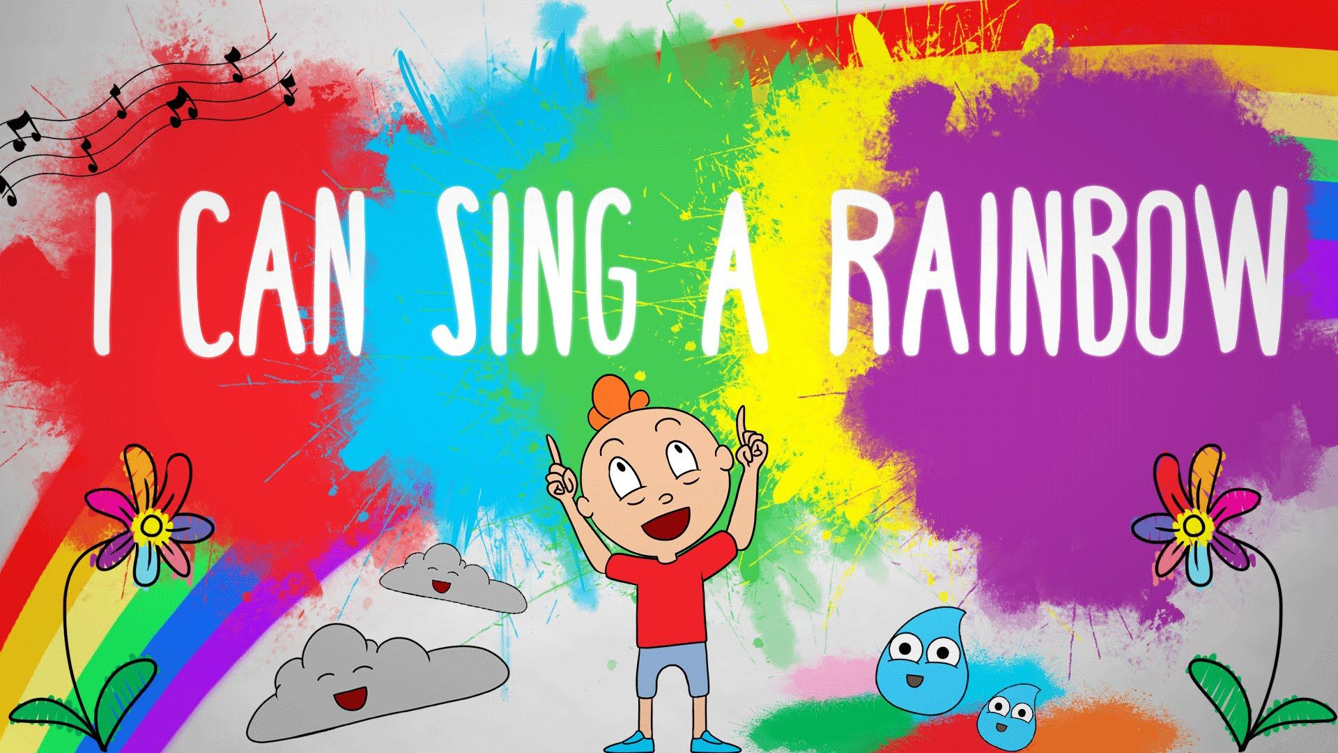 I Can Sing A Rainbow Children Sing Along Song Sing Along Songs