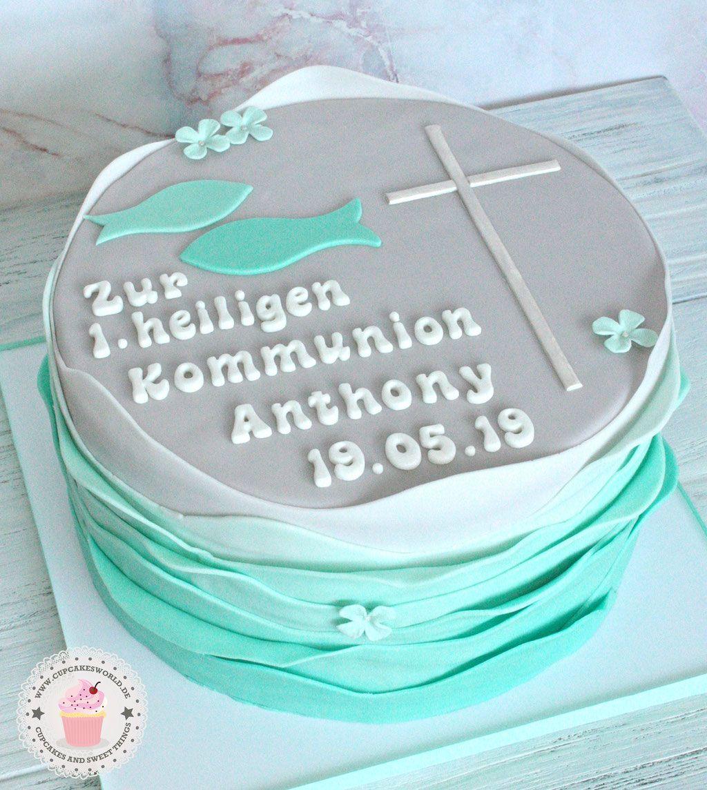 Torten Zur Taufe Konfirmation Und Kommunion Julia Barwald Kommunion Torte Taufe Kommunionskuchen