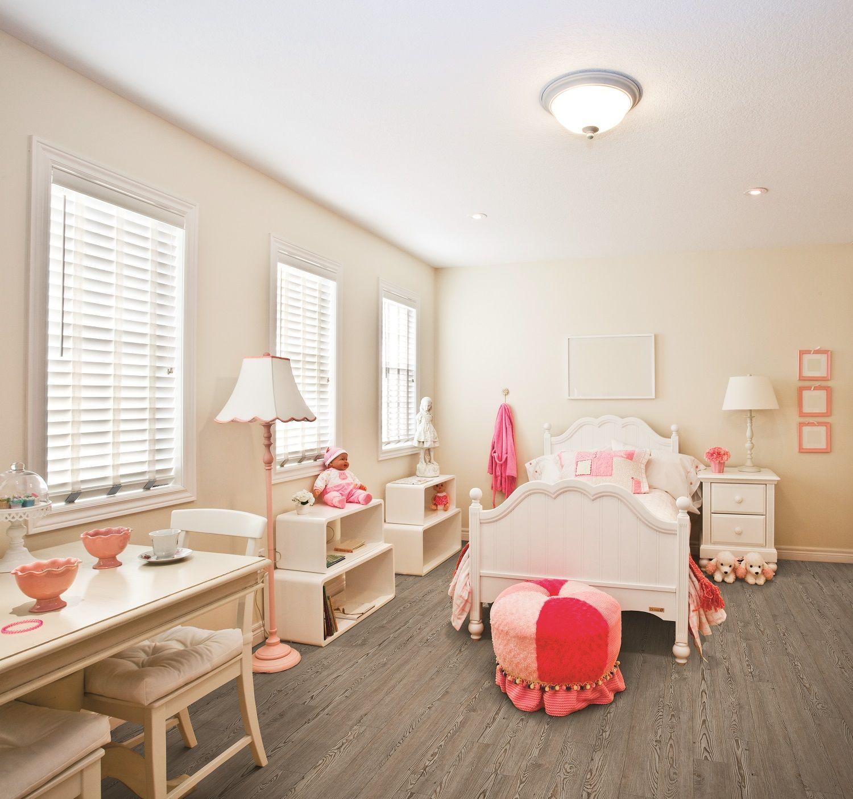 Coretec Plus 5 Plank Corvallis Pine Children S Bedroom Lvt Floors Hardwood Floor Look Is A Great Alternative To Glue Down