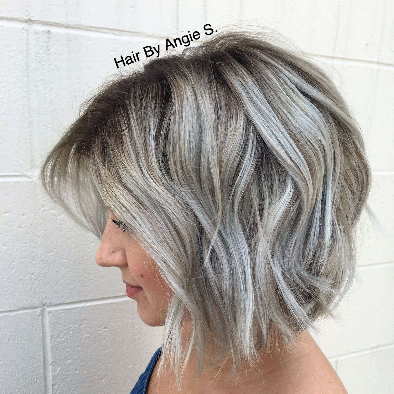 So obsessed with my hair dimensional silvergrey balayage
