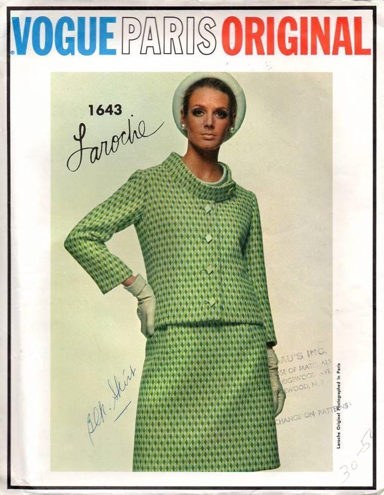 Vogue Paris Original 1643 Vintage Sewing Pattern Designer Laroche
