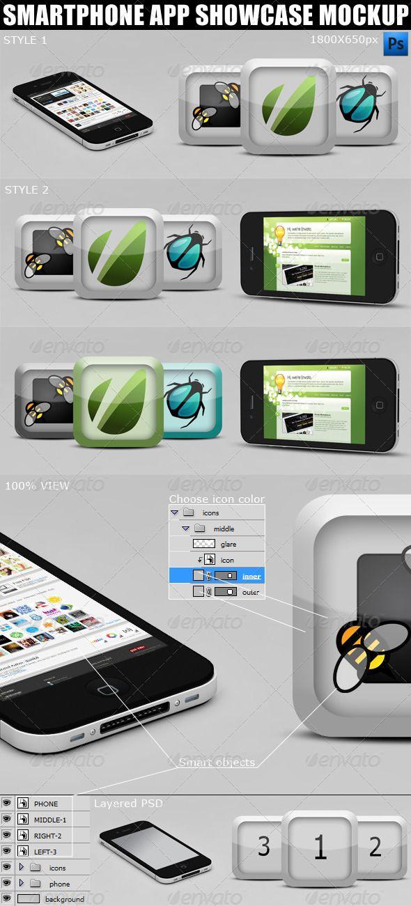 Smartphone App Showcase Mockups Showcase your mobile