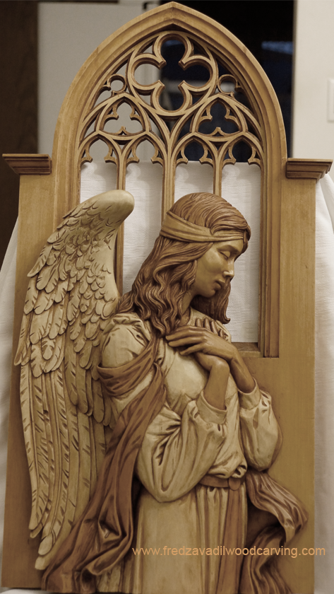 Angel relief wood carving fred zavadil cravings