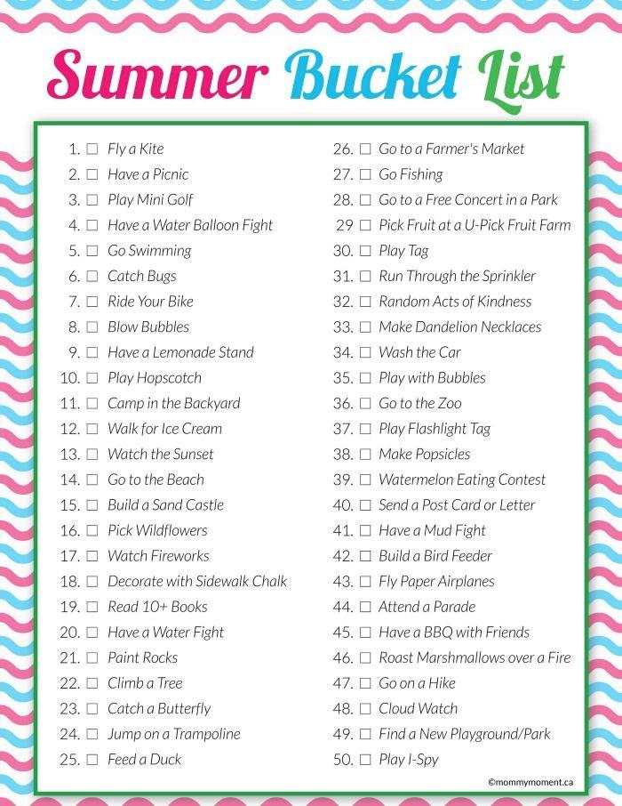 Summer Bucket List Summer 2016 Pinterest Summer