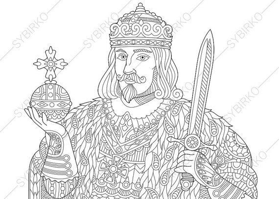 Coloring Pages For Adults King Prince Royal Man Lord Tsar