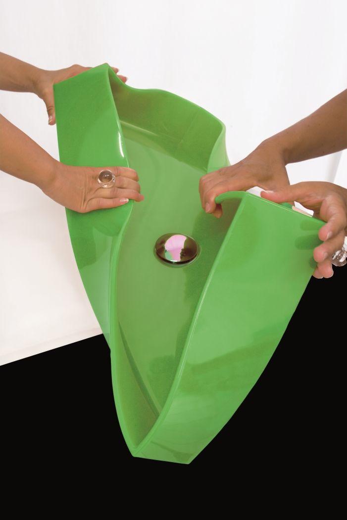 Сантехника из стекла, стали и камня Glass Design: Siliconio