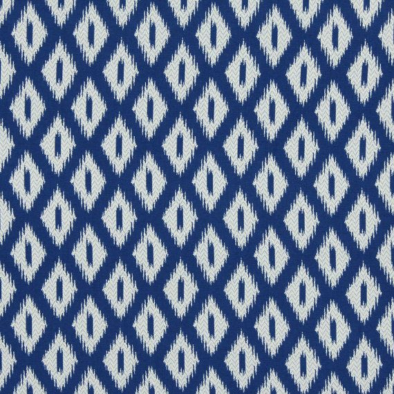 Cobalt Blue Upholstery Fabric Blue Ikat Contemporary Furniture Fabric Ikat Home Decor Blue