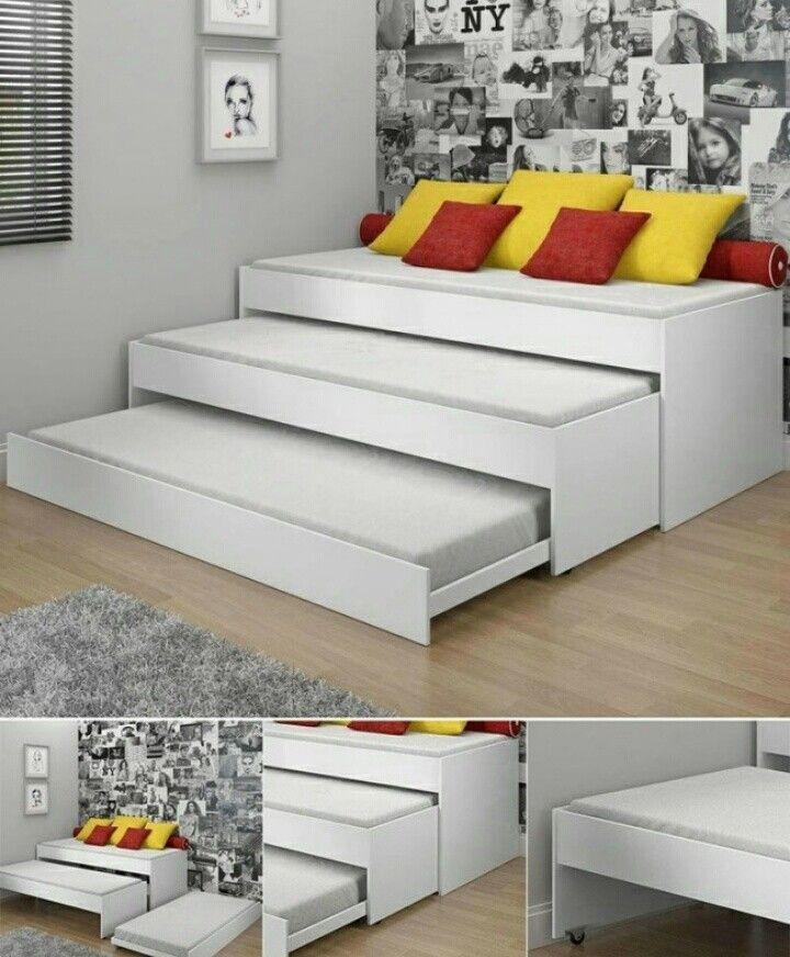 Cama tres niveles | RAR | Pinterest | Camas, Dormitorio y Litera