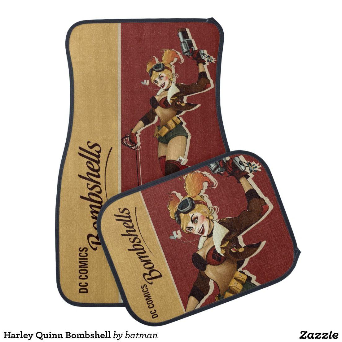 Harley Quinn Bombshells Pinup Car Floor Mat