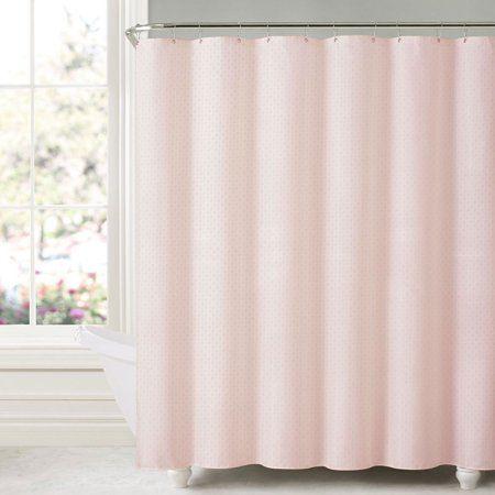 Honeycomb Embossed Microfiber Shower Curtain Liner 70 Inchx72 Inch Blush Pink