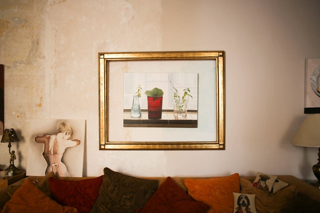 An Ocher-Colored, Art-Filled Home in Valencia