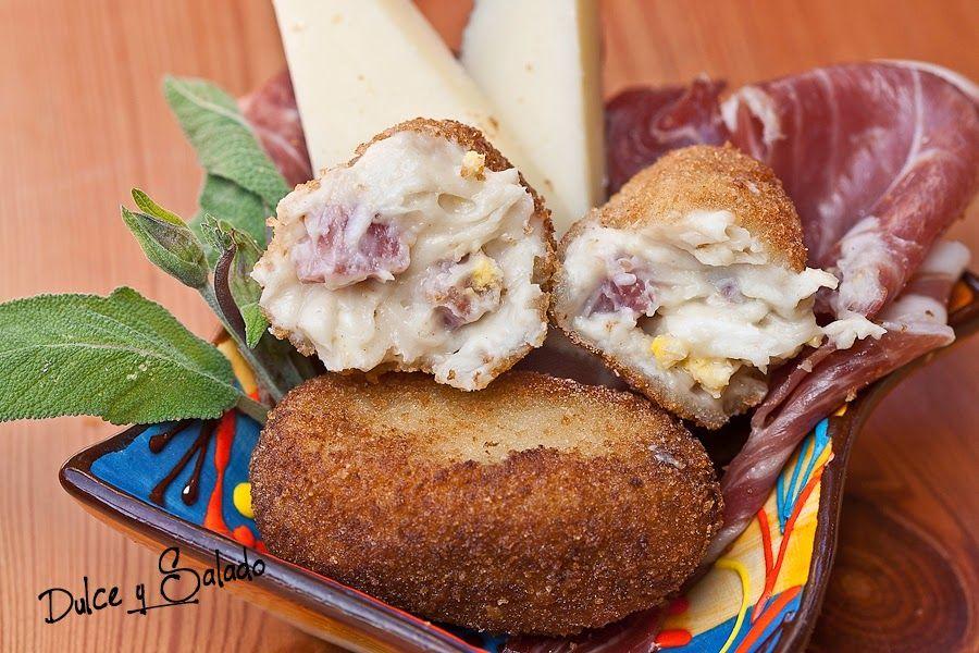 Dulce y Salado: CROQUETAS DE JAMON SERRANO