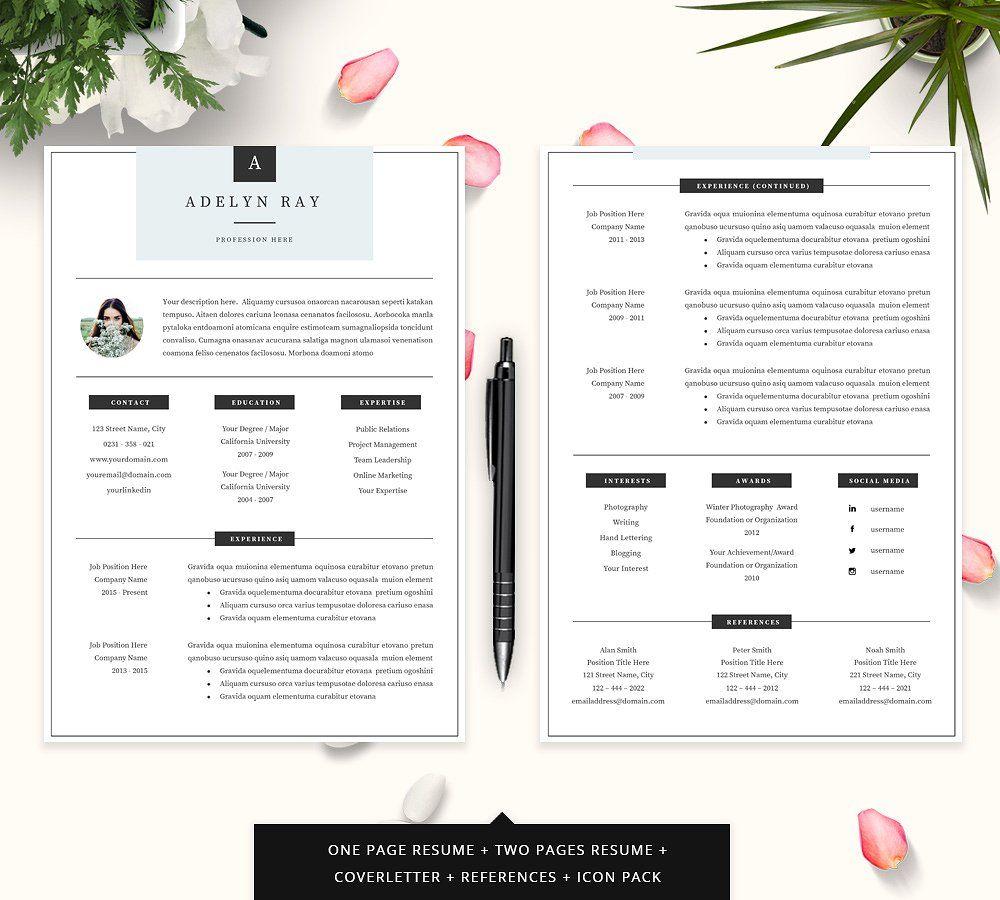 Professional resume cv template cv template resume cv