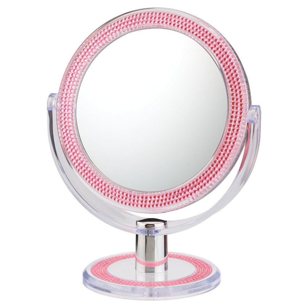 Double Sided Free Standing Magnified Makeup Bathroom Mirror