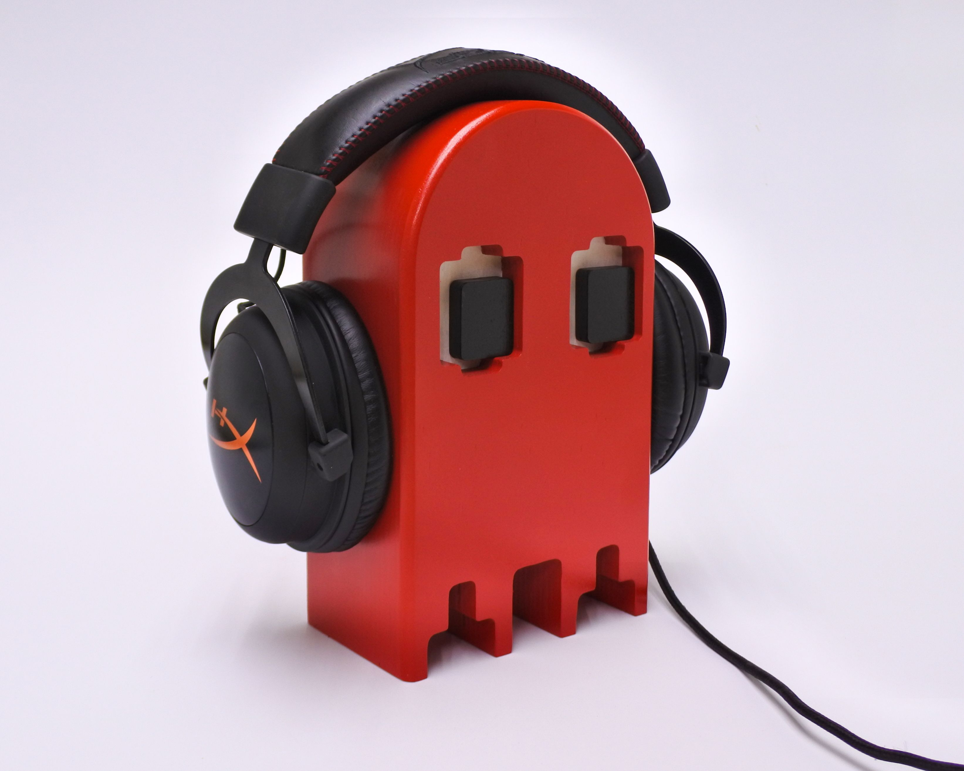 Headphone Stand Wooden Retro Game Ghost Gamer Gift Etsy Headphone Stands Gamer Gifts Gamer Room