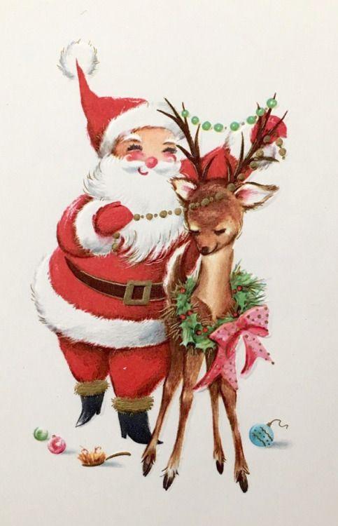 vintage holidays vintage christmas card - Vintage Christmas Pictures