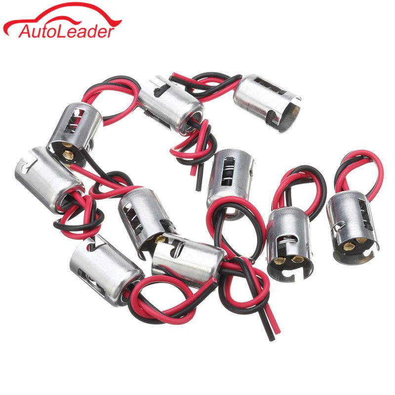 10pcs 1157 Bay15d Turn Signal Light Harness Wire Connector Led Bulb Socket Holder Brake Plug For Car Truck Car Electronics Cars Trucks Socket Holder