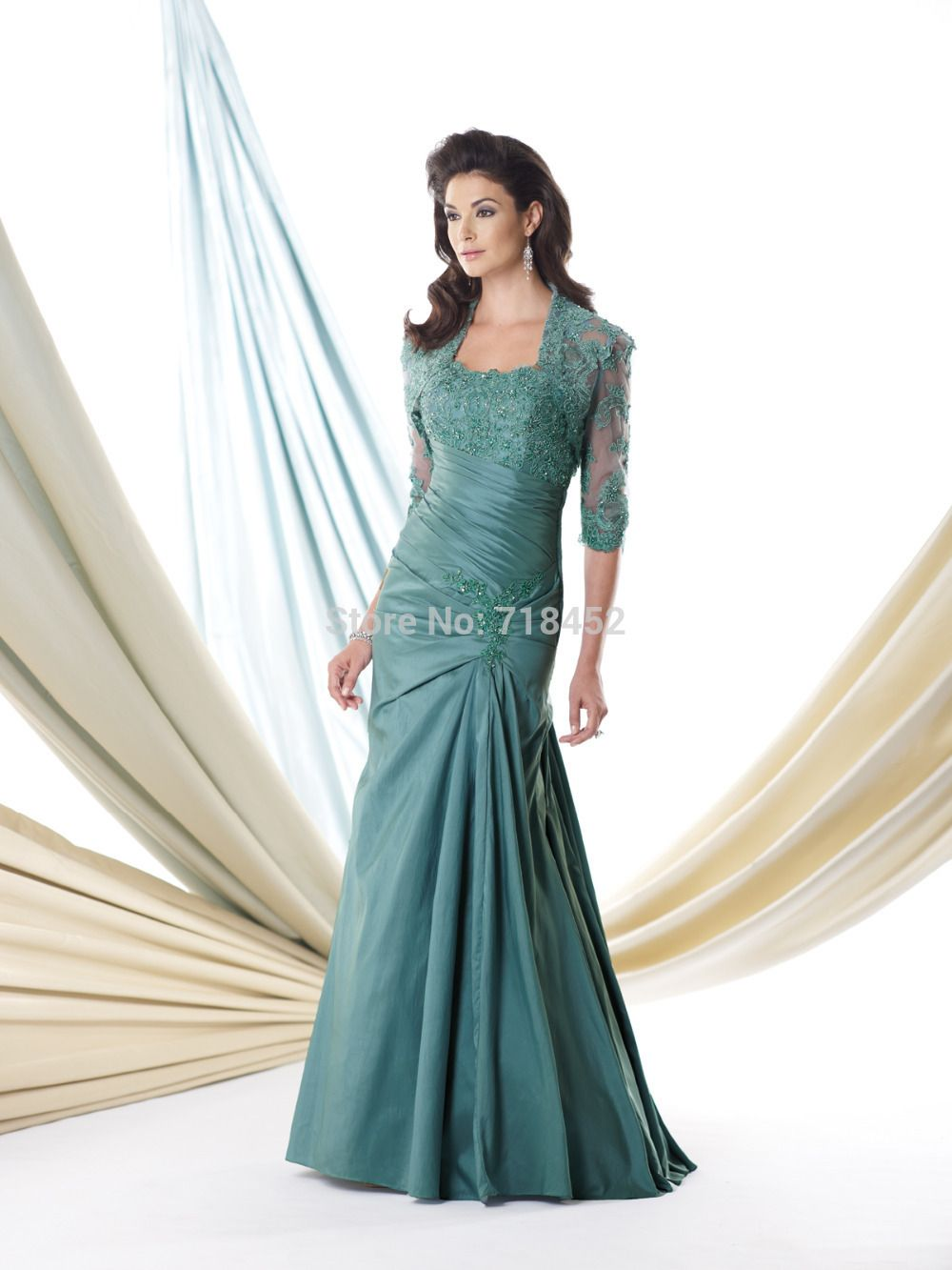 Wedding dresses for mother of the bride  Click to Buy ucuc Fashion Design Turquoise Mother of Bride Dress with