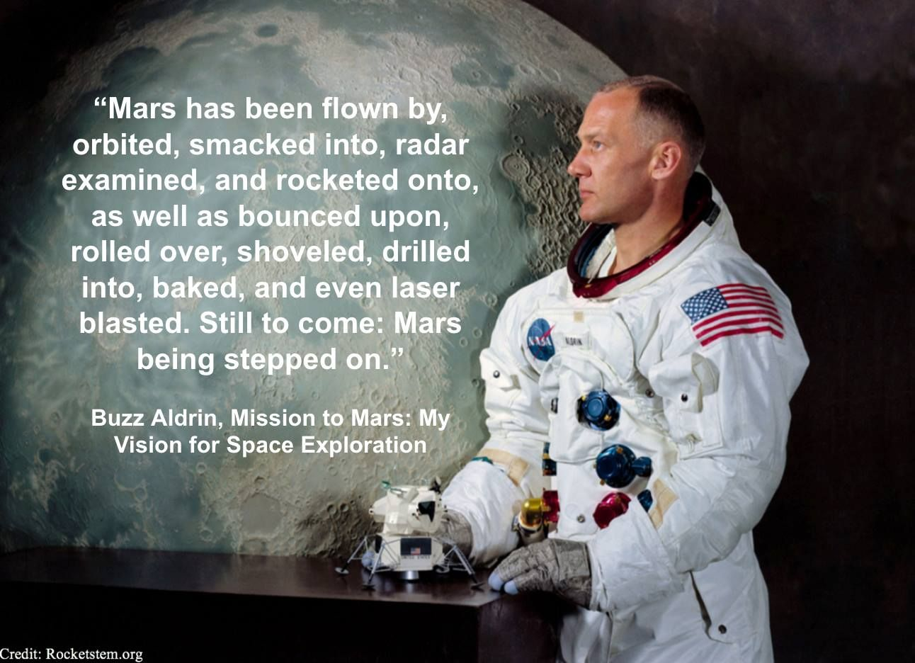 Buzz Aldrin Mars quote | Mission to mars, Buzz aldrin, Inspirational quotes