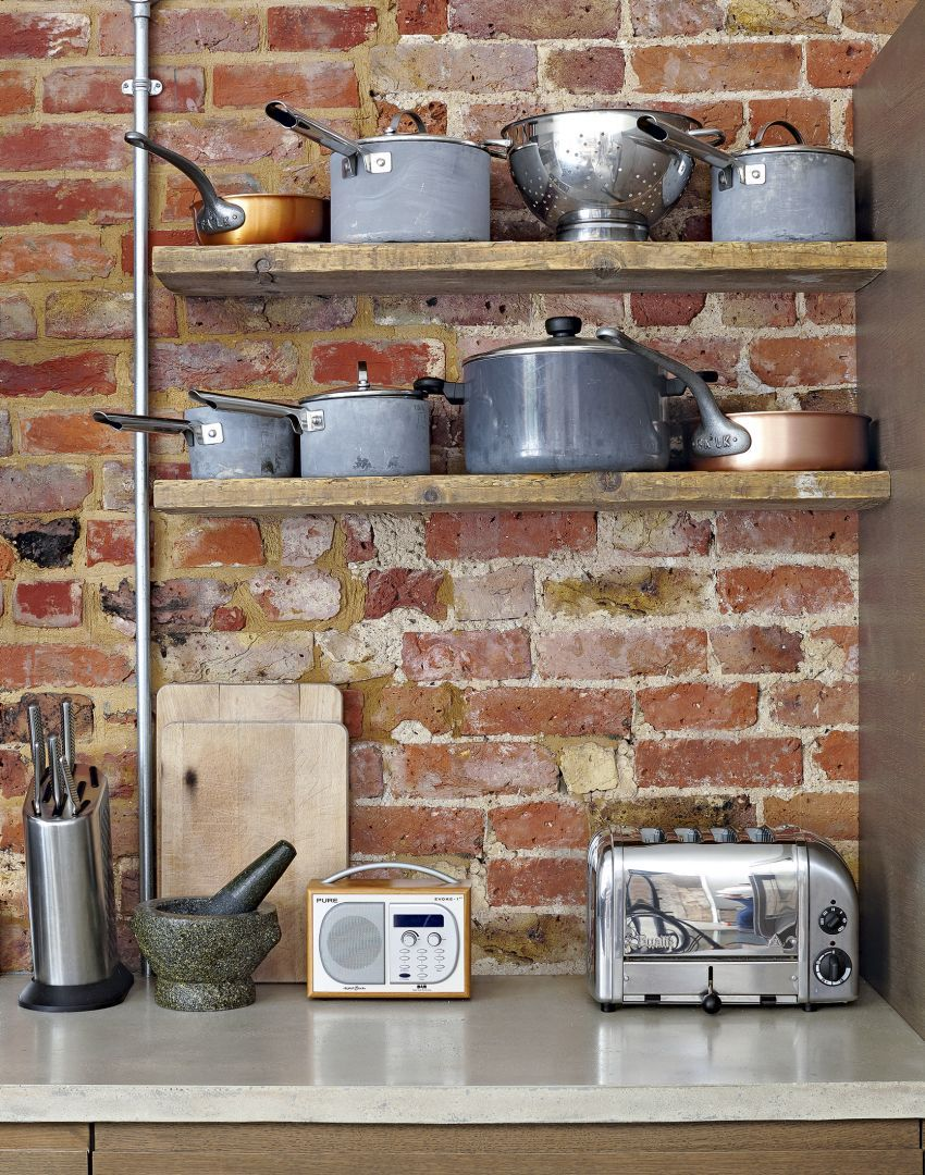 42++ Fake brick wall in kitchen trends