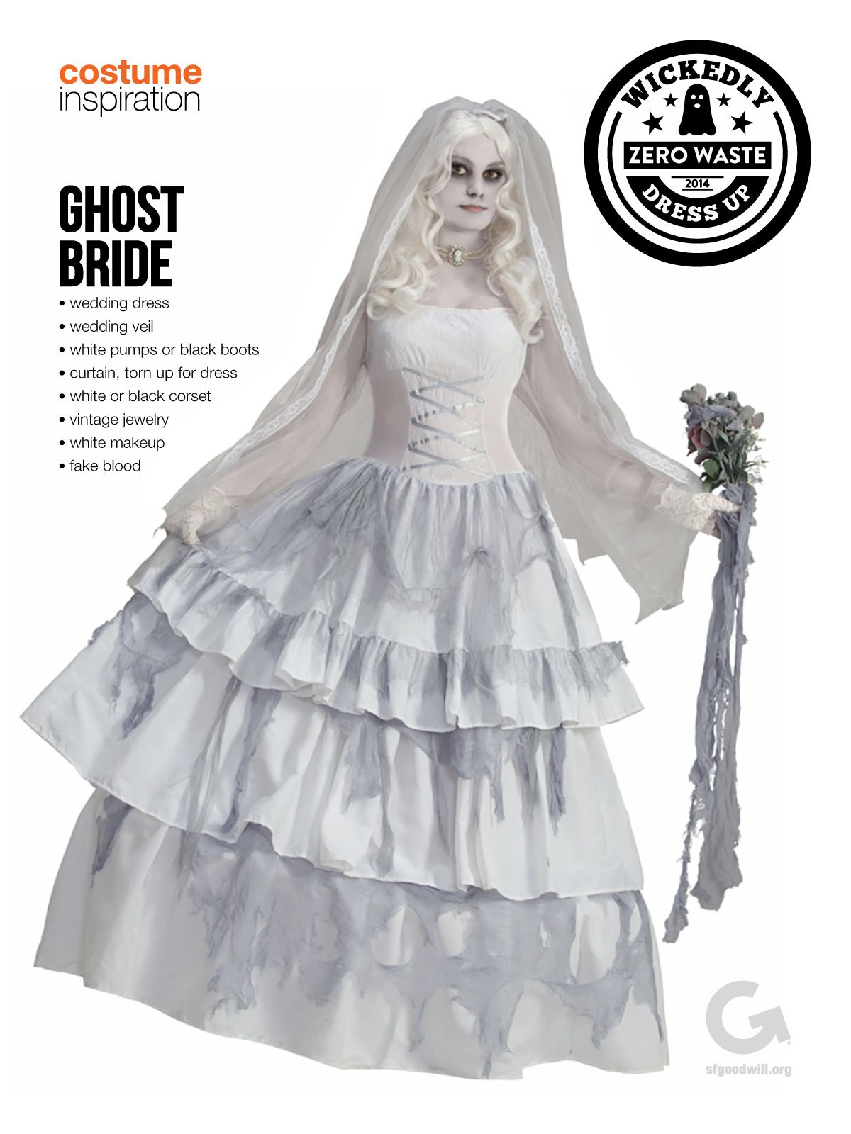 sf goodwill diy halloween costume inspiration ghost bride halloween costume ghost bride