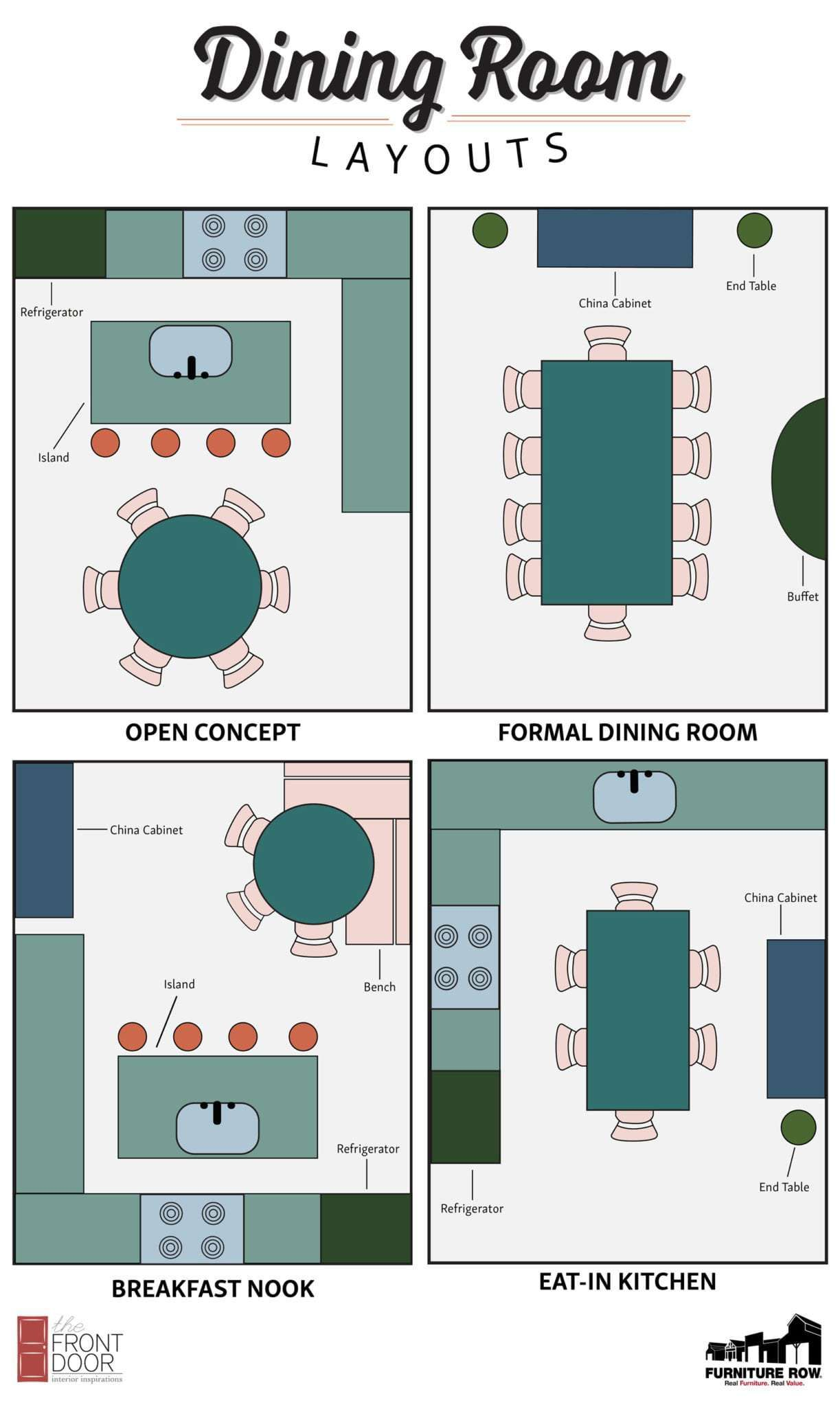 Dining Room Layout Guide The Front Door By Furniture Row