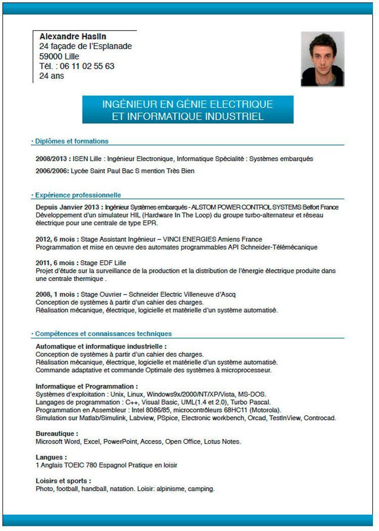 Cv Type Sans Experience Professionnelle Cv Anonyme Faire Un Cv Lettre De Motivation Le Cv