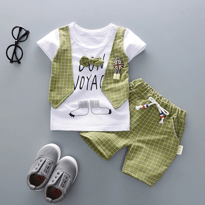 Newborn Baby Boy Outfit Sets Gentleman Clothes Top/&Short Wedding Party Outfit