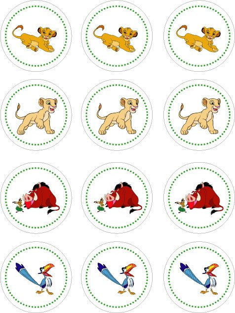Magnificent Lion King Printable Cupcake Toppers Lion King Party Lion King Funny Birthday Cards Online Barepcheapnameinfo