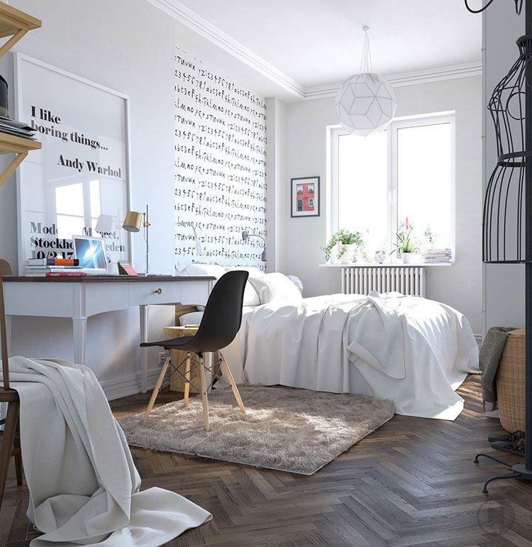 Camere da letto in stile scandinavo 25 idee di arredo dal for Idee di design