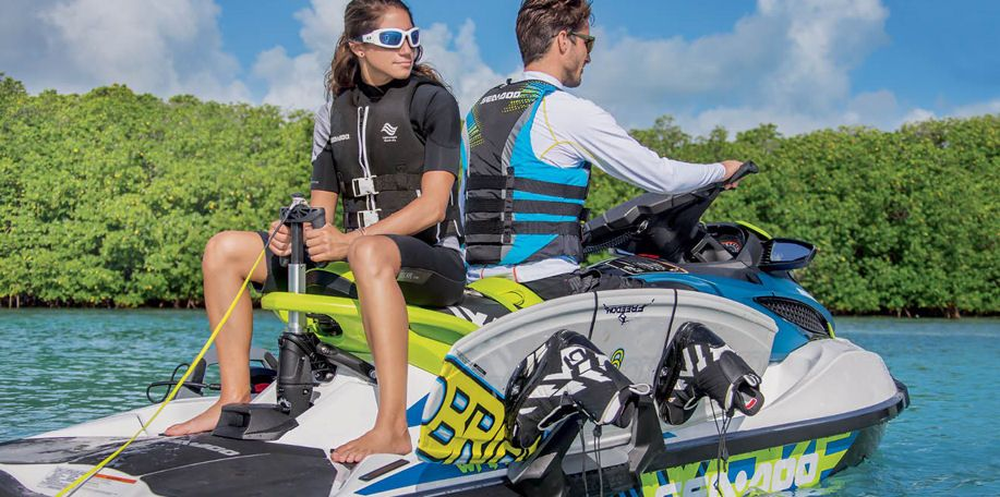 Sea-Doo GTX Limited 300: An optional onboard rack for a