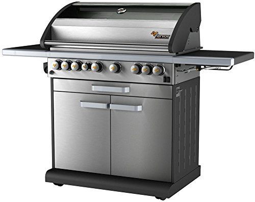 4 Burner Natural Gas or Liquid Propane Gas Grill with Side