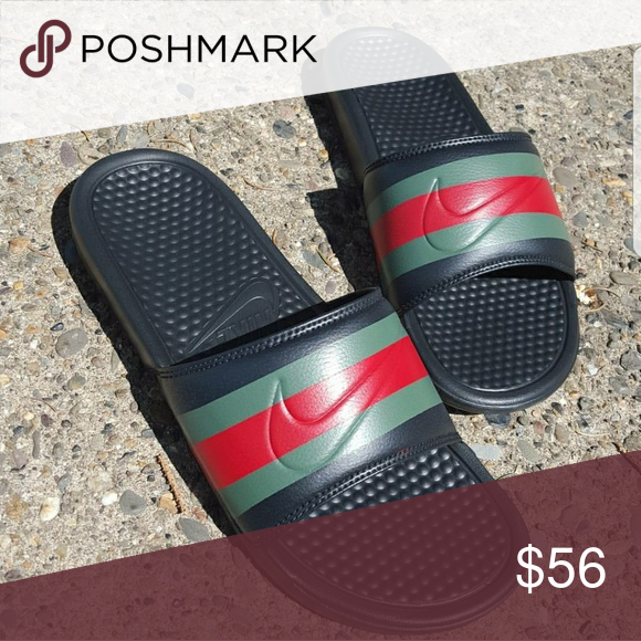 012d4fa94da5 Gucci x nike Gucci x nike slides customized brand new Jordan Shoes Sneakers
