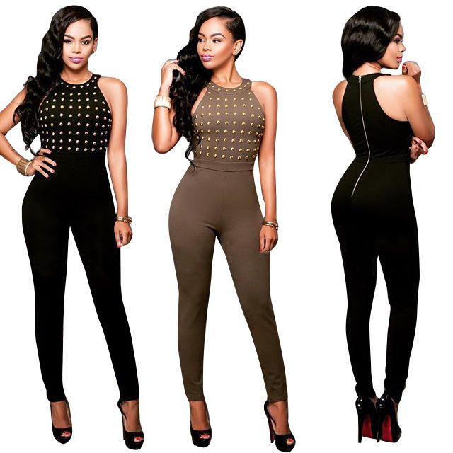 Womens Casual Party Sleeveless Bodycon Tank Jumpsuit Sexy Club Playsuit  Rompers #Jumpsuit