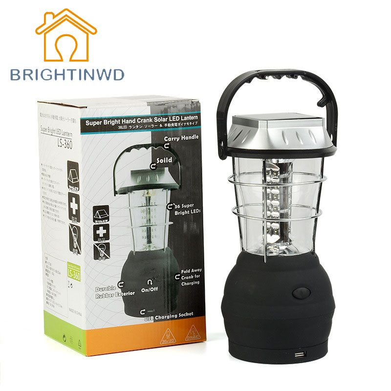 Super Bright 36LED Solar Camping Light, Rechargeable Emergency Light,  Household Portable Lantern, Camping