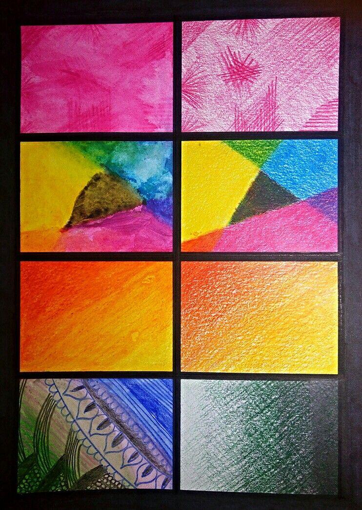 Tecnica lapices de colores: experimentacion