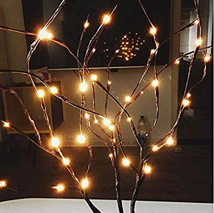 Amazon Com Pack Of 20 Led Light Olive Branch Lighted Tree Branches Lit Night Centerpieces Artificial Willo Twig Lights Lighted Tree Branches Light Decorations