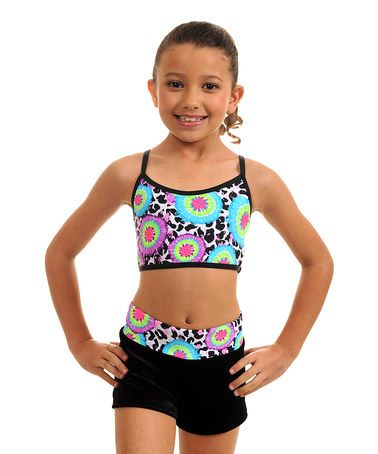 d547f0e98d This Blue   Green Tie Dye Sports Bra   Shorts - Girls by TumbleWear is  perfect!  zulilyfinds