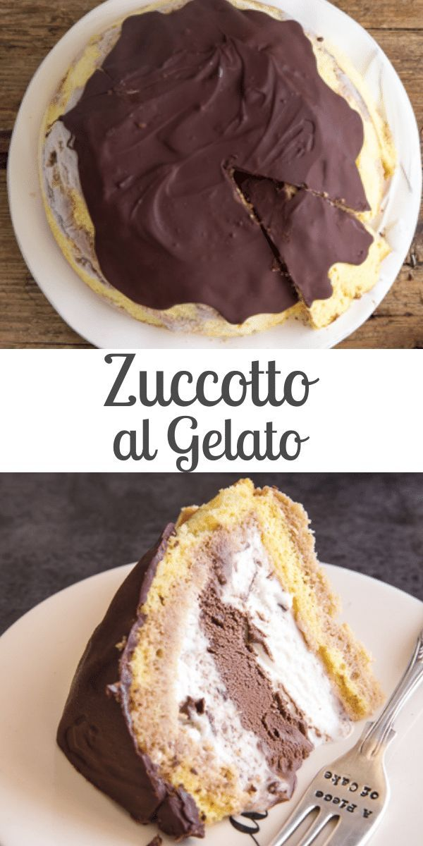 Zuccotto al Gelato is a Classic Italian dessert from Florence, made with an Italian Sponge Cake your favourite ice cream. Adding a chocolate drizzle brings it to the next level!
