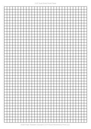 A4 Graph Paper, 025 inch quad ruled pdf Templates Pinterest - Loose Leaf Paper Print