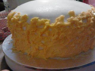 caramel cake fondant royal icing Wilton sparkle gel fire Pokemon magmar